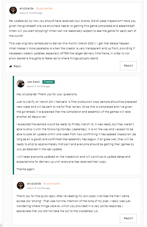 Kickstarter Lessons: Always be professional and polite (even when your backers aren't) 3