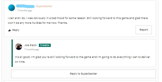Kickstarter Lessons: Always be professional and polite (even when your backers aren't) 2